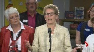 Wynne urges voters to ask questions about motivations of party leaders