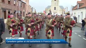 Canadians head to France and Belgium to honour fallen soldiers