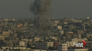 Israel continues its air assault on Gaza, two rockets fired from Lebanon