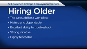 Are you 50 plus and looking for work? St Lawrence College Employment Service has tips for you.