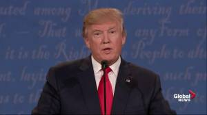 Presidential debate: Donald Trump lays down strong language on late-term abortion