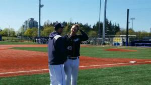 UBC pitcher makes school history
