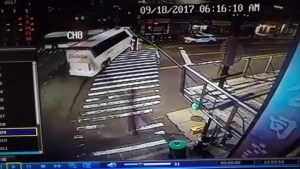 Charter bus crashes into New York City bus