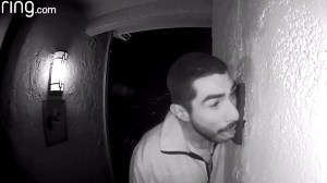 Police hunt for man caught on camera vigorously licking family's doorbell for 3 hours