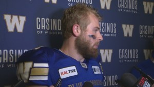 RAW: Blue Bombers Chris Streveler Post Game