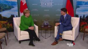 G7 Summit: Trudeau welcomes Germany's Merkel to Charlevoix