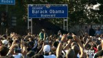 Barack Obama Boulevard unveiled in Los Angeles