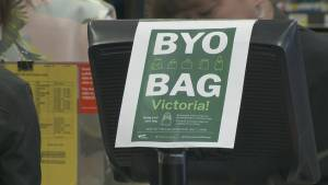 B.C.'s capital banning single-use plastic bags July 1st (01:47)