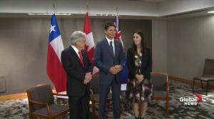Trudeau holds meeting with Chile, New Zealand during UN General Assembly