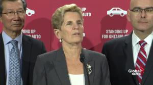 Kathleen Wynne says auto sector glad NAFTA negotiations ongoing, 'most important' to industry
