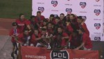 PDL Champions Foothills FC show off their trophy