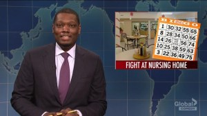 SNL's Weekend Update makes light of Canadian nursing home brawl