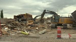 Calgary members 'sad to see it go' as Old Kensington legion hall demolished
