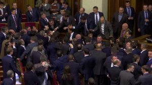 Fight between MPs erupt in Ukraine's parliament