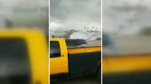 Roof torn off business as storm rolls through Saskatoon
