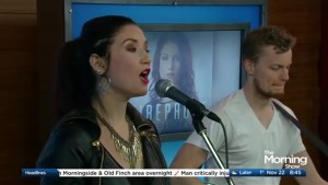 Nicole Rayy performs 'Fireproof' on The Morning Show