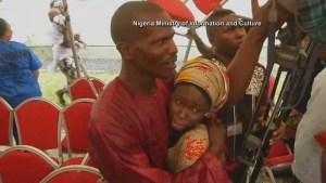 Hugs, tears of joy as 21 schoolgirls abducted by Boko Haram 2 years ago reunited with families