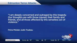 Prime Minister Trudeau 'outraged' by Edmonton terror attack