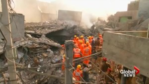 Desperate search for survivors after deadly building collapse in northern India