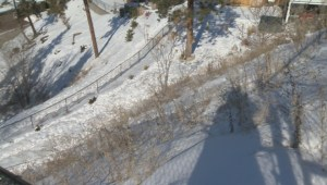 A Kelowna couple says they are facing financial ruin to repair an unstable slope on their property, which they didn't create