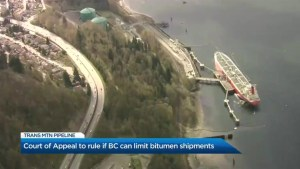 B.C.'s top court to make key Trans Mountain pipeline ruling
