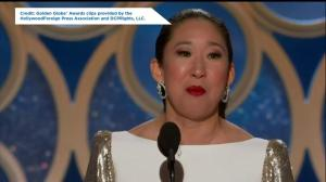 Golden Globes:  Sandra Oh wins Best Actress for Killing Eve