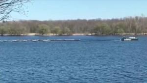 Boat pulls dock near Colin's Bay