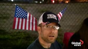Donald Trump fans line up overnight for re-election rally