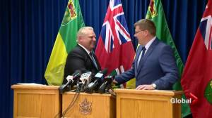 Premiers Doug Ford, Scott Moe meet in Saskatoon to fight carbon tax