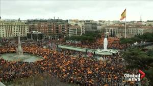 Thousands protest in Madrid against government's Catalonia policy