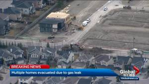 Calgary gas leak forces evacuations, road closures