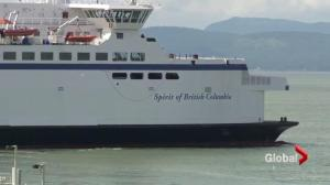 RCMP looking for boat after close call with a BC Ferry