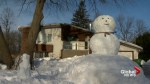 Pierrefonds man creates giant snowman