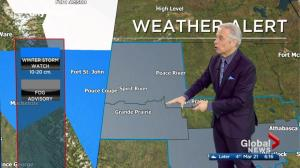 Fog advisories, winter storm watches issued across Alberta Wednesday
