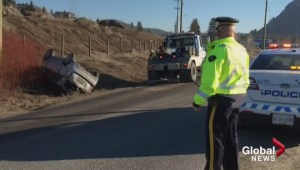 Car crash on old Okanagan highway