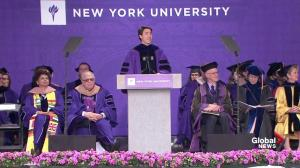 Justin Trudeau delivers NYU commencement address
