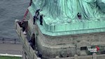 Woman climbs up Statue of Liberty on Fourth of July to protest U.S. immigration policy