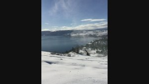 'Snow twister' spins in Kalamalka Lake Provincial Park