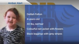 AMBER ALERT: Vancouver Police looking for 4-year-old girl