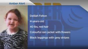 AMBER ALERT: Vancouver Police looking for 4-year-old girl (01:11)
