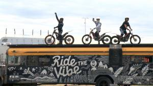 Ride the Vibe stunt crew amazes during stop in Saskatoon