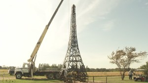 Husband builds replica Eiffel Tower after wife of 57 years diagnosed with lung cancer