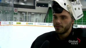 Saskatchewan Huskies men's hockey in a groove with new starting goaltender