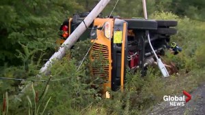 Student sent to hospital after school bus crashes on Old Sambro Road outside Halifax