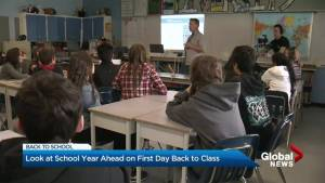 B.C. education minister welcomes students back to school
