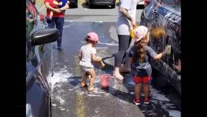 A recap of the Car Wash For Cancer by the kids at An Apple a Daycare