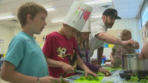 'I made my mom pancakes': Okanagan initiative teaches kids how to grow, cook healthy food
