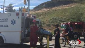 Man rescued after falling into Kelowna ravine