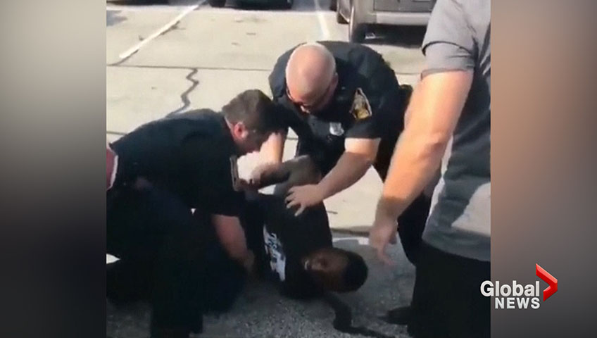 'I Can't Breathe': Ex-NFL Player Slammed To Ground, Choked By Cops