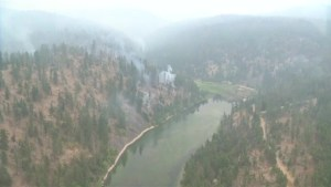 Finlay Creek wildfire from the air
